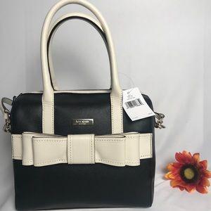 Brand New KATE SPADE purse/satchel Black/cream